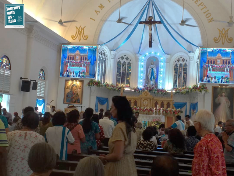 Read more about the article Church overflowing with believers at Our Lady of Lourdes Feast Day