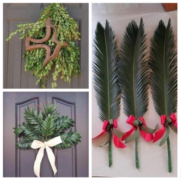 Put a branch on your door to celebrate Palm Sunday