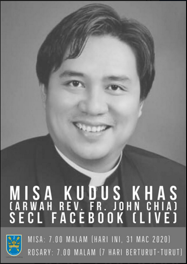 Read more about the article Online mass from Limbang for the late Rev Fr John Chia