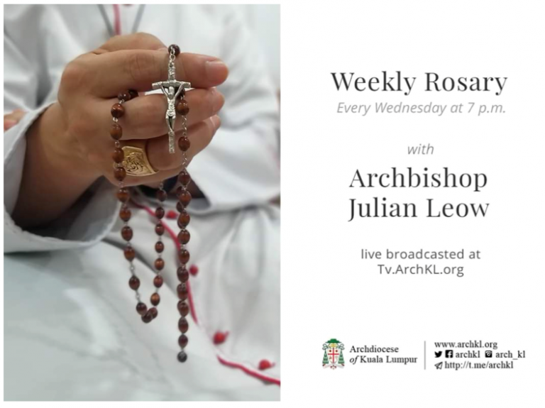 Weekly rosary with Archbishop Julian Leow – Wednesdays at 7pm