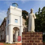 St Francis Xavier: crab, crucifix, his arm and Malacca