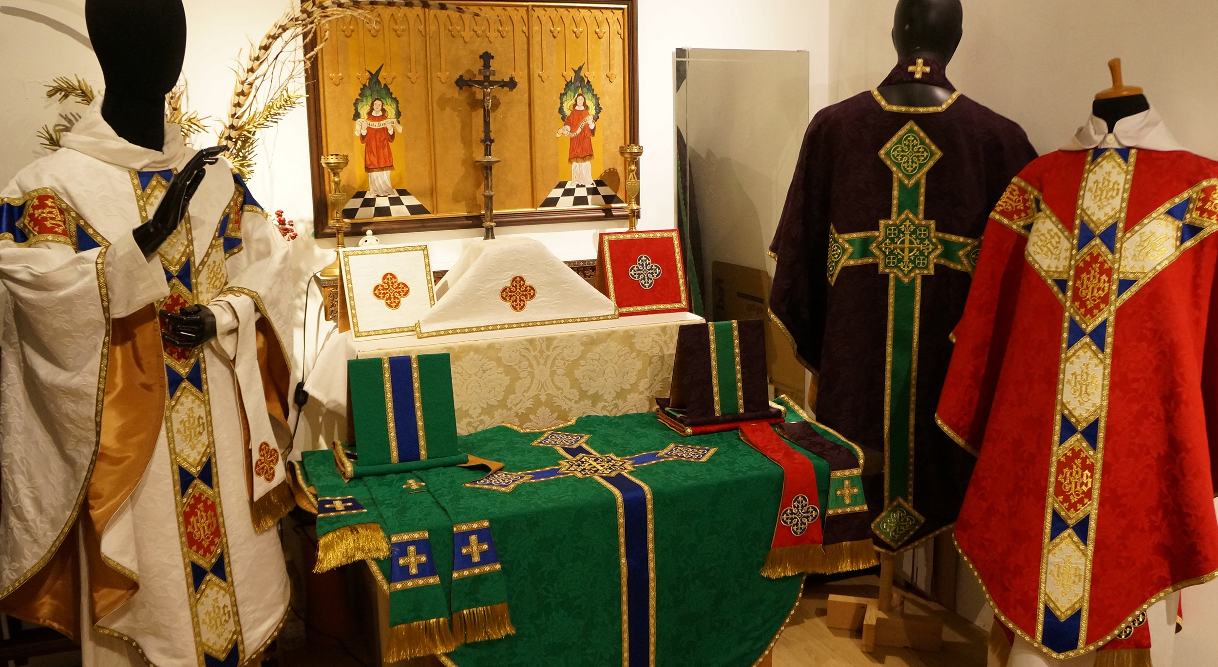 A 28-year-old Anglican from Malaysia makes Catholic vestments for the world