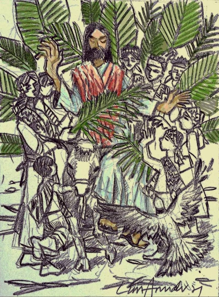 Read more about the article Hearing impaired artist offers his work as a blessing to all on Palm Sunday