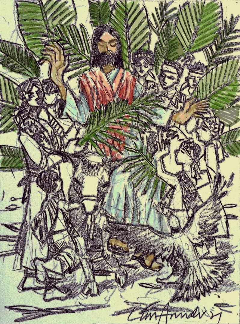 Hearing impaired artist offers his work as a blessing to all on Palm Sunday